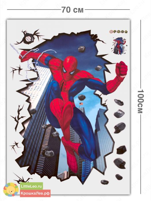 Человек паук, наклейка на стену