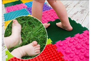 Детские массажные коврики: польза для здоровья