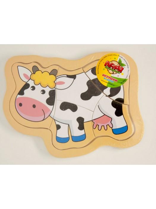 """Пазлы """"Корова на лугу"""""""